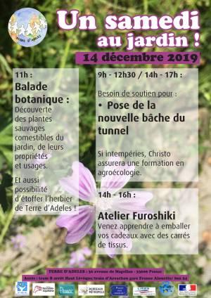 Affiche Samedi au Jardin d'ADELES samedi 14 décembre 2019