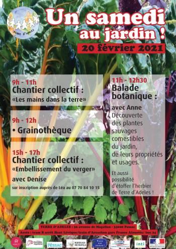Affiche « Un samedi au jardin ! » du 20 février 2021